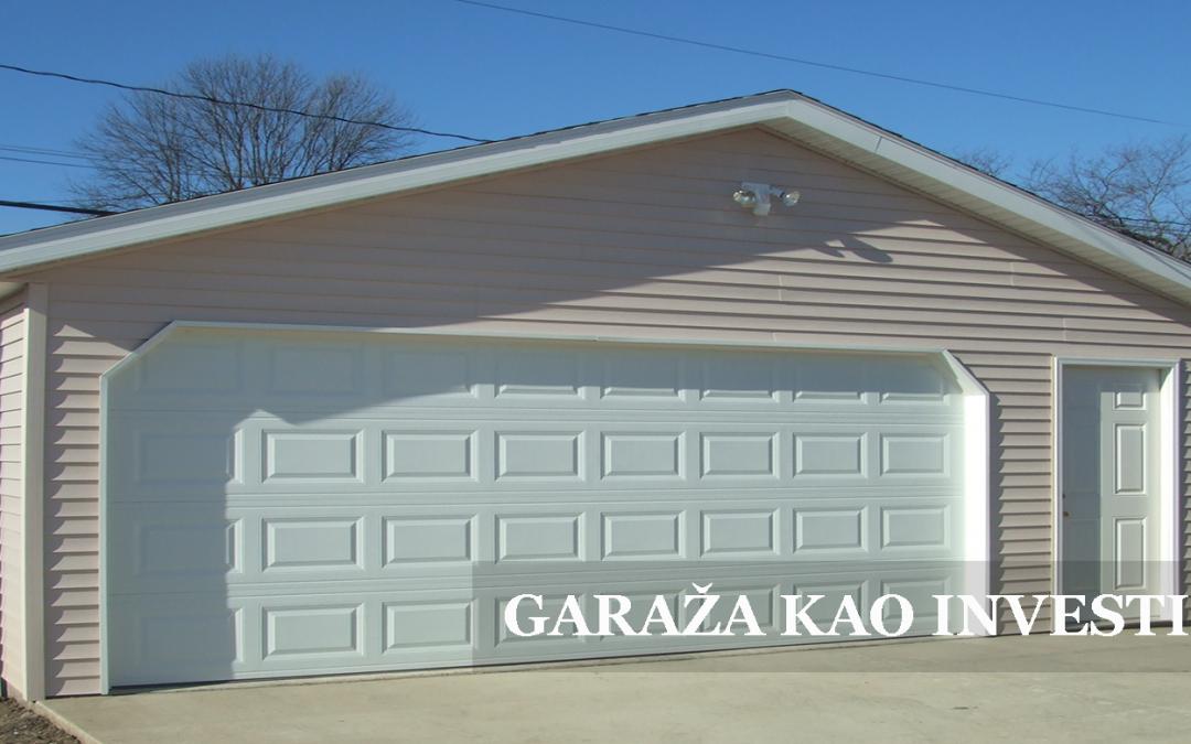 Garaža kao odlična investicija