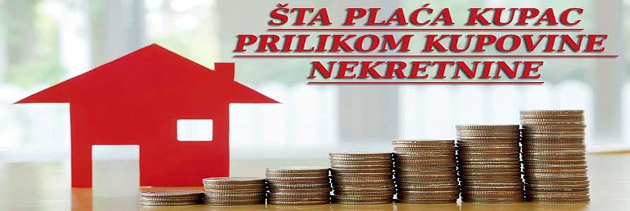troskovi kupca prilikom kupovine nekretnine